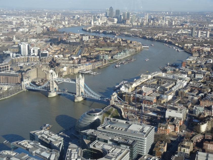 Vaade Londonile 245 m kõrguselt