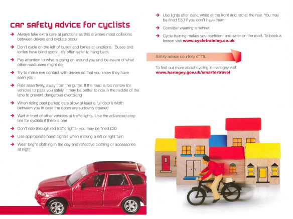 car safety advice for cyclists
