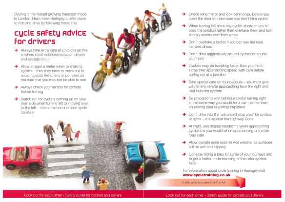 cycle safety advice for drivers